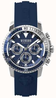 Versus Versace Mens aberdeen azul pulseira de silicone mostrador azul S30040017