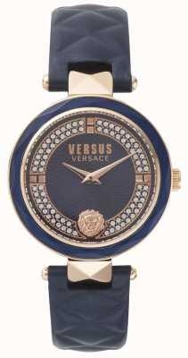 Versus Versace Bracelete de couro azul covent jardim para mulher SPCD280017