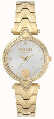 Versus Versace Womens v versus stone set ouro mostrador pulseira de ouro pvd SPCI350017