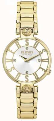 Versus Versace Bracelete de pvd em ouro de discagem kristenhof para mulher SP49060018