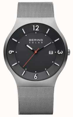 Bering Correia de malha de aço inoxidável com mostrador cinzento para homem 14440-077