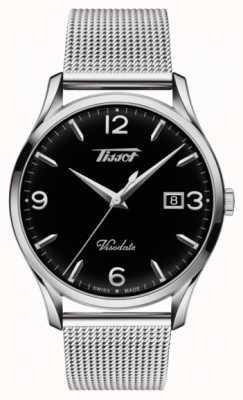 Tissot Mens visodate herança quartzo de aço inoxidável mostrador preto T1184101105700