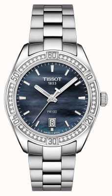 Tissot Womens pr 100 esporte chique 36mm de aço inoxidável azul T1019106112100