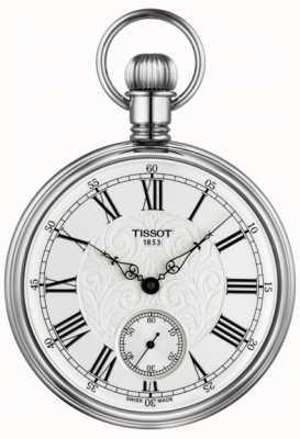 Tissot Lepine relógio de bolso mecânico de aço inoxidável T8614059903300