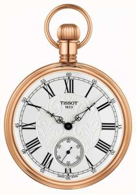 Tissot Lepine relógio de bolso mecânico rosa banhado a ouro inox T8614059903301