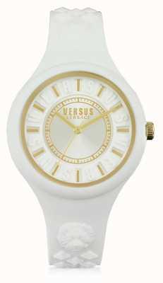 Versus Versace Ilha de fogo branco silicone stap white dial SOQ040015