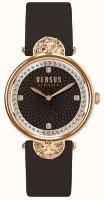 Versus Versace Womens victoria harbour pulseira de couro cor de vinho SP33150018