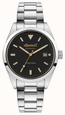 Ingersoll Mens a pulseira de aço inoxidável de confiança pulseira preta I05501