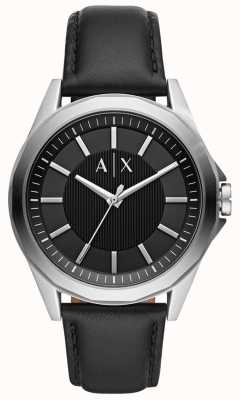Armani Exchange Relógio de vestido para homem | pulseira de couro preto | AX2621