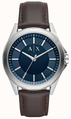 Armani Exchange Armani troca mens vestido relógio pulseira marrom AX2622