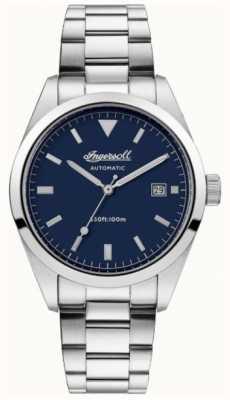 Ingersoll Mens o relógio de pulseira de aço inoxidável de confiança azul I05502