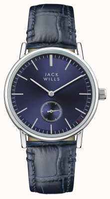 Jack Wills Correia de couro azul do mostrador azul do buckley das mulheres JW007BLSS