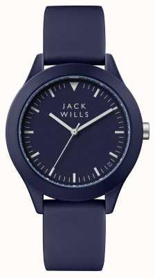Jack Wills Mens união azul mostrador azul pulseira de silicone JW009BLBL