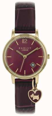 Radley Senhoras assistem caso rosa de ouro pulseira roxa RY2718