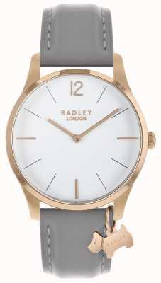 Radley Senhoras assistem caso de rosa de ouro pulseira de cinza RY2712