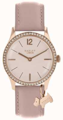 Radley Senhoras assistem caso de ouro rosa pulseira de couro de teia de aranha RY2700