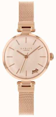 Radley Senhoras assistem pulseira de malha caso de ouro rosa RY4360