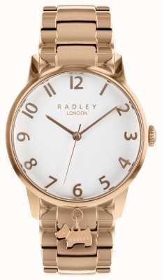 Radley Senhoras rosa ouro relógio de aço inoxidável RY4362