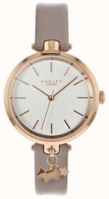 Radley Senhoras assistir pulseira de couro de teia de aranha caixa de ouro rosa RY2728