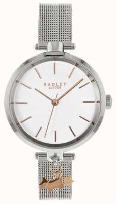 Radley Relógio de prata para senhora | cinta de malha de aço inoxidável | RY4363