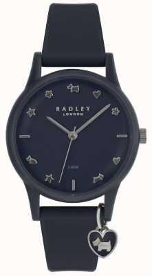 Radley Senhoras assistir pulseira de silicone com marcadores de prata RY2691