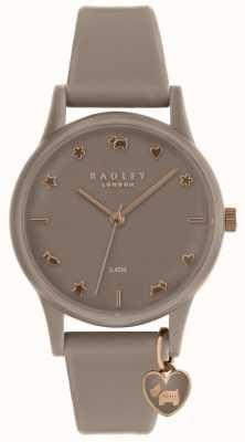 Radley Relógio de silicone para senhora com ouro rosa RY2694