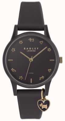 Radley Senhoras relógio de silicone roxo com marcadores de ouro pálido RY2696