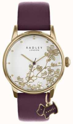 Radley Senhoras assistem pulseira de couro floral roxo RY2688