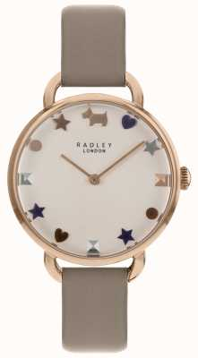 Radley Relógio de senhoras rosa ouro alça de ombro aberta RY2698