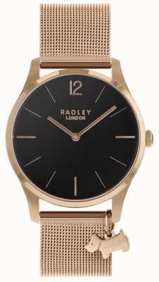 Radley Senhoras assistem cinta de malha de ouro rosa RY4356