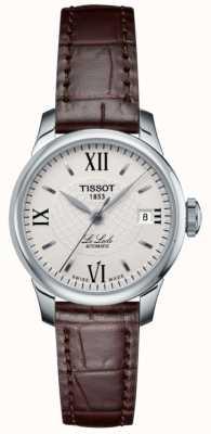 Tissot Relógio automático de couro fino le locle feminino T41111377
