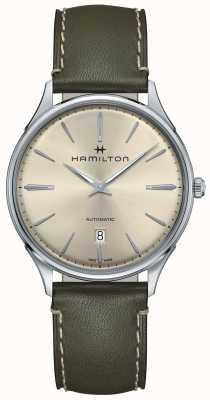 Hamilton Jazzmaster linha fina verde oliva automático H38525811