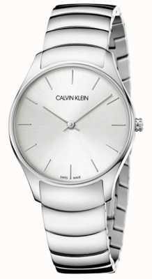 Calvin Klein Relógio clássico de aço inoxidável para senhora K4D22146