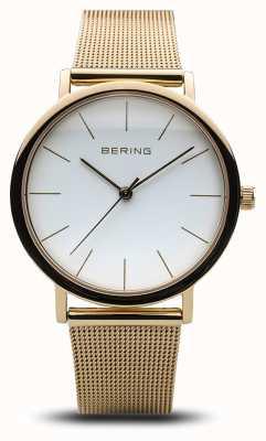 Bering Malha de ouro de relógio clássico para senhoras 13436-334