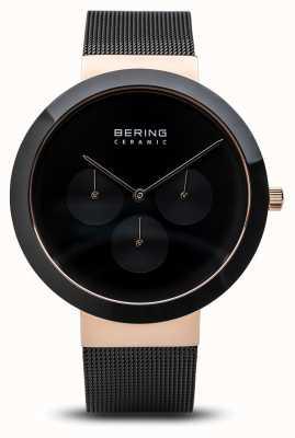 Bering Cerâmica | caixa de ouro rosa polido | mostrador preto 35040-166