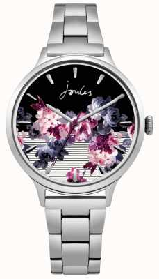 Joules Dial floral do bracelete de aço inoxidável da flora das mulheres JSL002SM