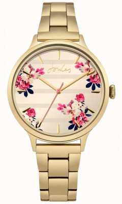 Joules Pvd de flora feminina ouro banhado a pulseira de discagem floral JSL002GM