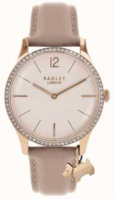 Radley Pulseira de couro rosa Millbank para mulher RY2524