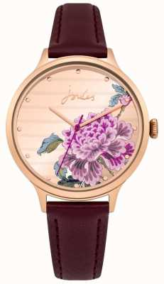 Joules Senhoras joules pulseira de couro roxo multi-color discar JSL002VRG