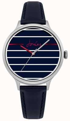 Joules Womens joules marina azul pulseira de couro azul rosto listrado JSL013US