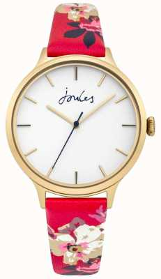 Joules Mostrador branco pulseira de couro floral womens joules casey JSL003PG