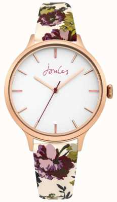 Joules Mulheres joules casey branco pulseira de couro floral mostrador branco JSL003VRG