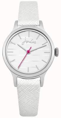 Joules Mostrador branco pulseira de couro branco saffiano das mulheres JSL012W