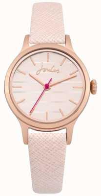 Joules Womens lisbeth pulseira de couro rosa mostrador de ouro rosa JSL012PRG