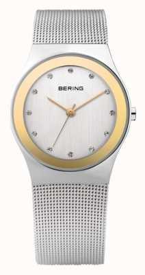 Bering Relógio clássico de quartzo para mulher com aço inox 12927-010
