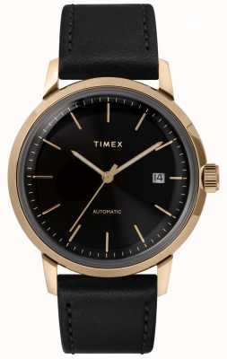 Timex Relógio masculino Marlin com pulseira de couro preto TW2T22800