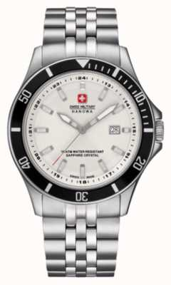 Swiss Military Hanowa Flagship white dial moldura preta 6-5161.2.04.001.07