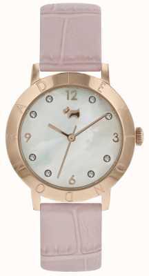 Radley Senhoras radley highgate madeira relógio rosa cinta rosa ouro RY2538