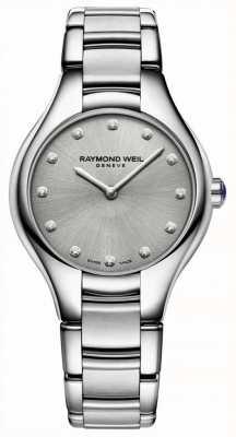 Raymond Weil Pulseira de aço inoxidável de noêmia de diamantes para mulheres 5132-ST-65081