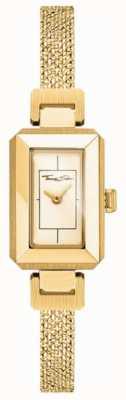 Thomas Sabo Pulseira de aço inoxidável amarelo / ouro para mulher, mostrador em ouro WA0331-246-207-23